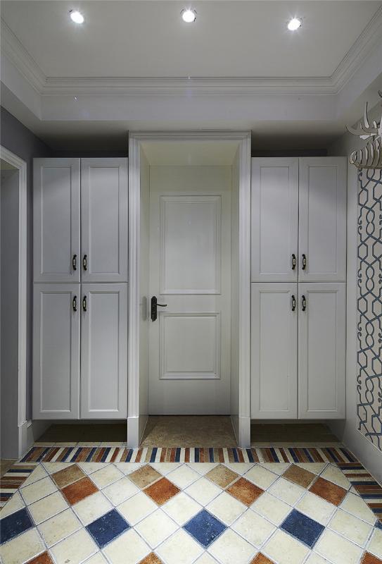 装修百科 装修效果图 装修美图 美式风格家居玄关壁柜设计 美式风格
