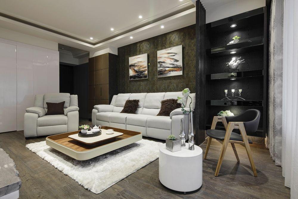 現代日式風 二居客廳裝修效果圖