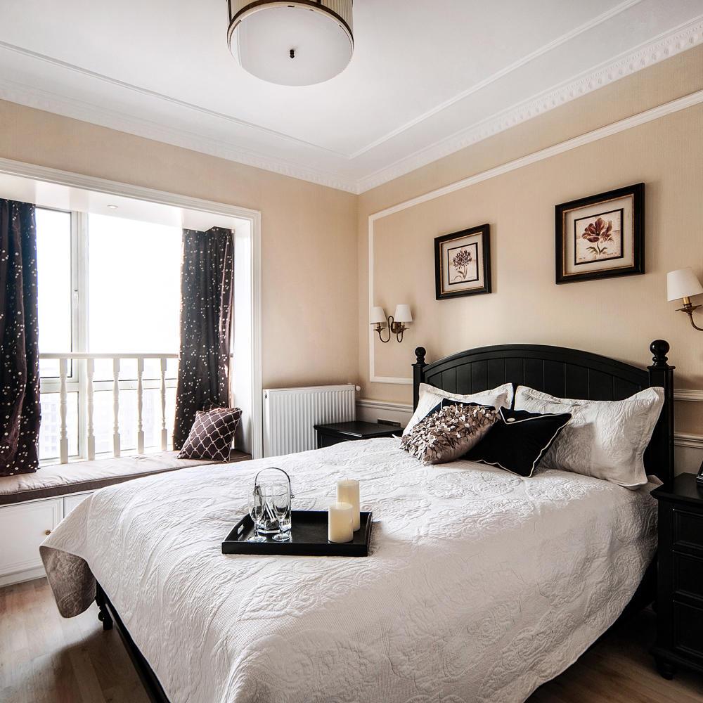 装修百科 装修效果图 装修美图 欧式风格卧室飘窗窗帘装饰图 欧式风格