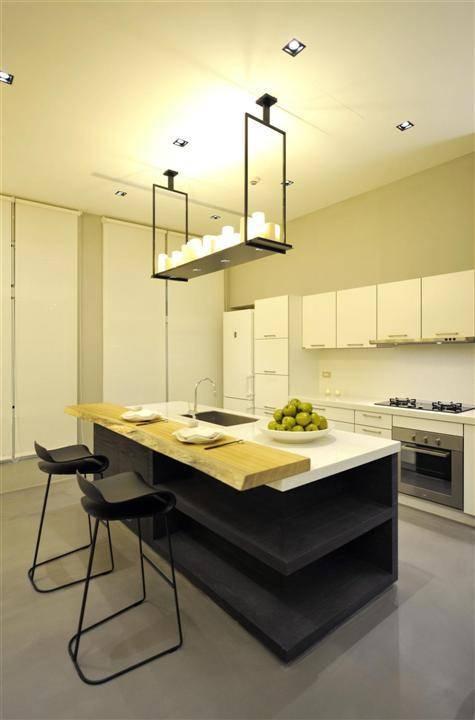 现代家装厨房吧台设计