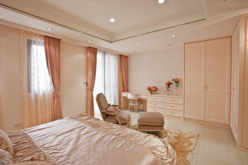 簡約設計臥室粉嫩裝飾效果圖