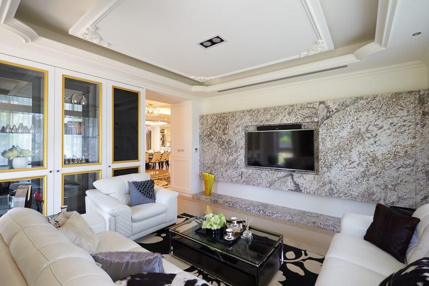 新古典客厅电视背景墙设计