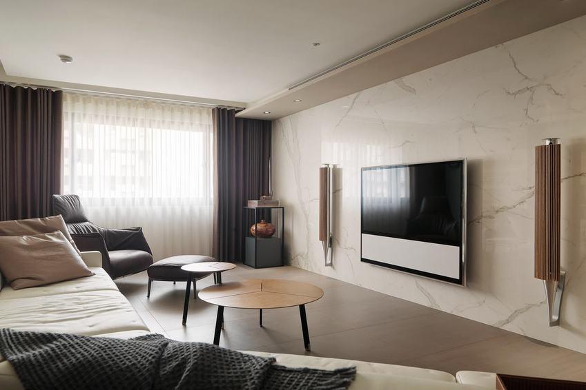 美式客厅 大理石电视背景墙装饰_装修百科