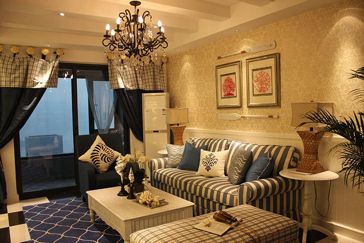 62平古樸地中海風格兩居裝飾
