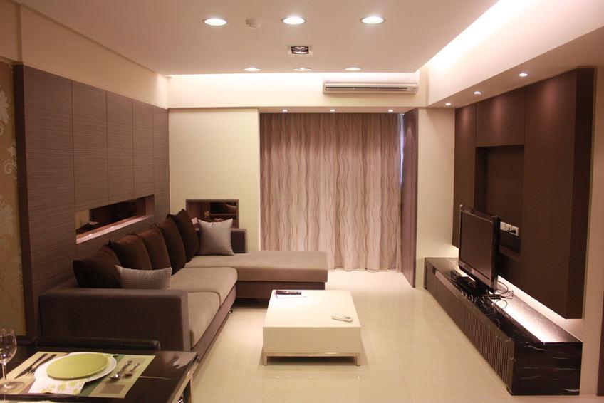 咖啡色現代客廳裝修效果圖