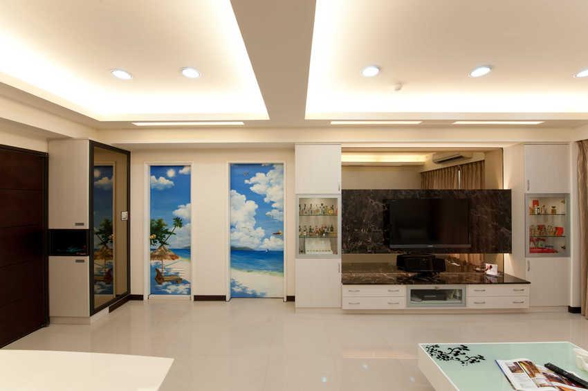 简约创意客厅电视背景墙设计