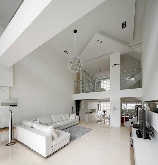 时尚简约客厅吊顶设计