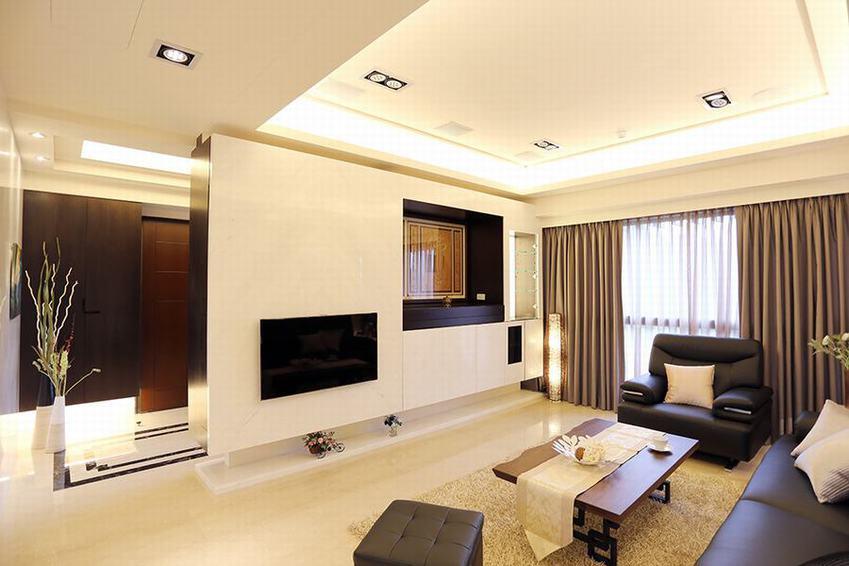 简欧客厅电视背景墙设计