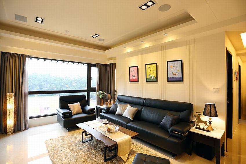 装修效果图 装修美图 简欧风格客厅窗户设计图片
