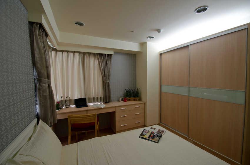 装修效果图 装修美图 简约小户型卧室书桌设计