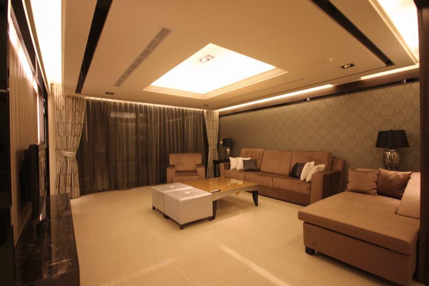 现代装修客厅吊顶设计