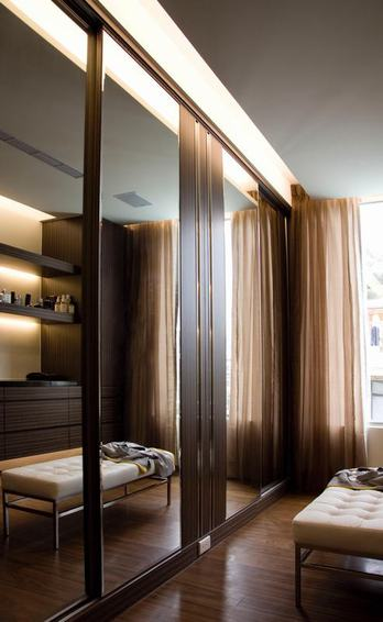 现代时尚装修玻璃推拉门设计