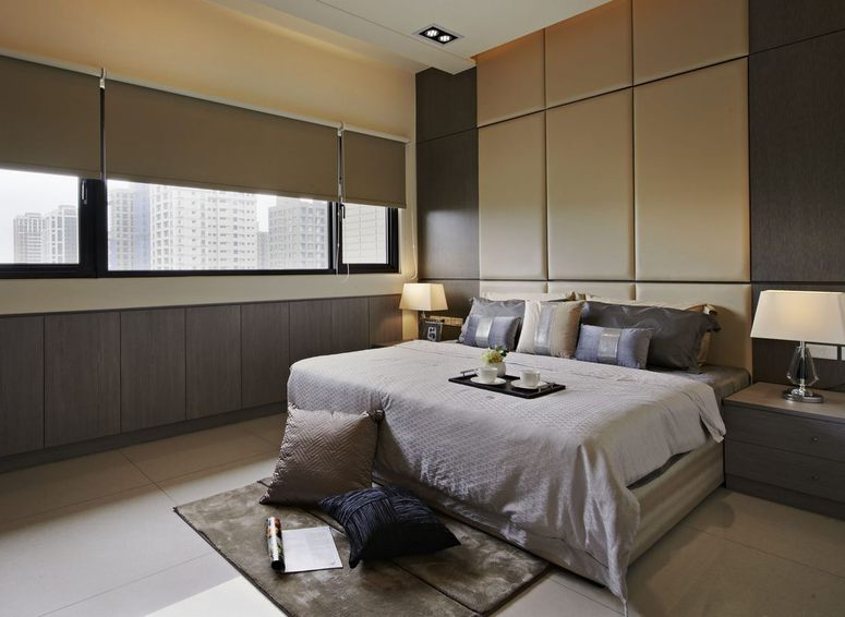 現代風格臥室軟包背景墻設計