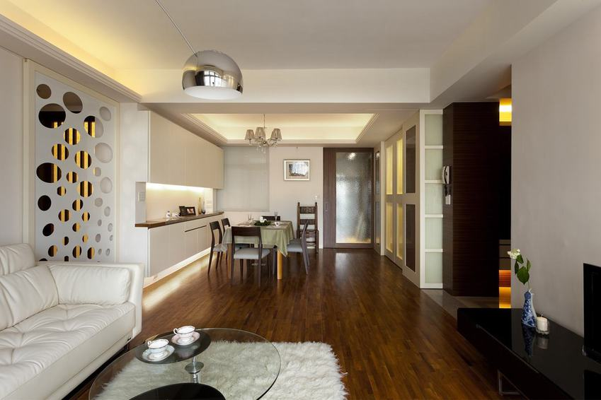 日式裝修 二居室內實木地板裝飾圖