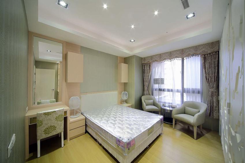 現代日式臥室樣板房效果圖