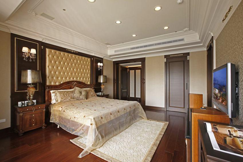 古典欧式卧室软包背景墙设计