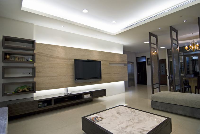 現代風格客廳電視背景墻設計