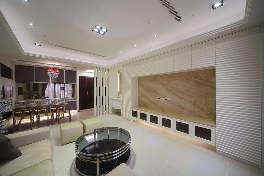 日式现代客厅电视背景墙设计_装修百科