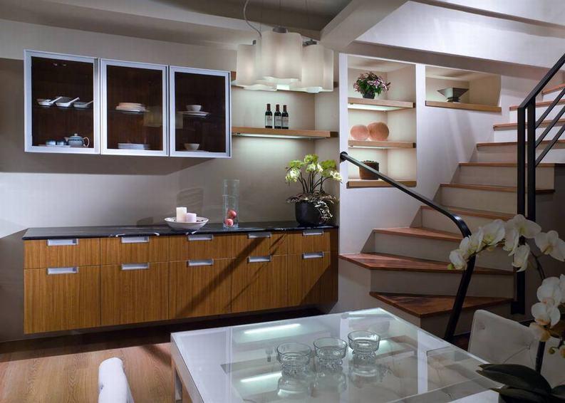 美式裝修復式餐廳碗柜設計