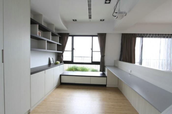時尚簡約書房樣板間設計