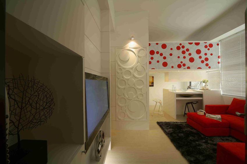 簡約現代一居室設計裝飾圖