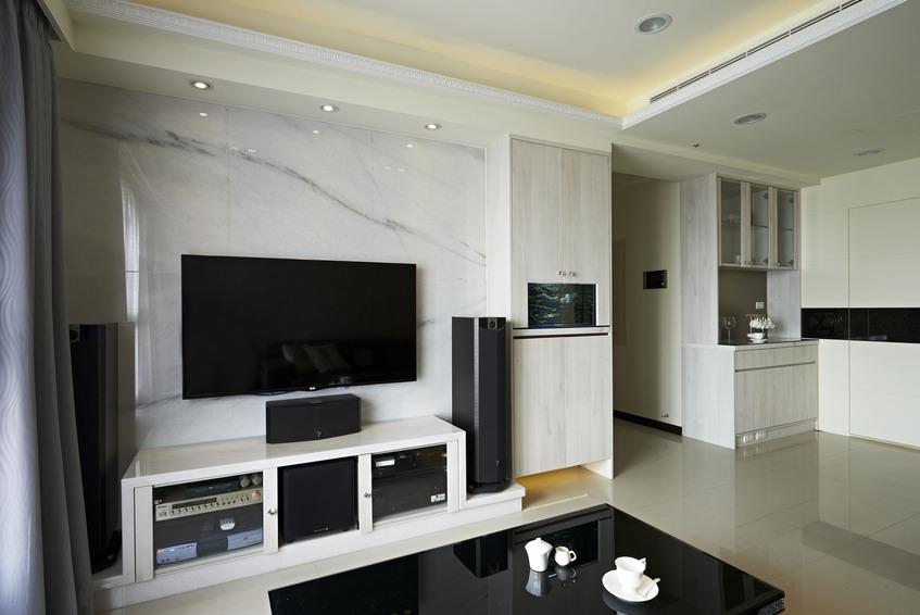 现代家装客厅电视背景墙欣赏