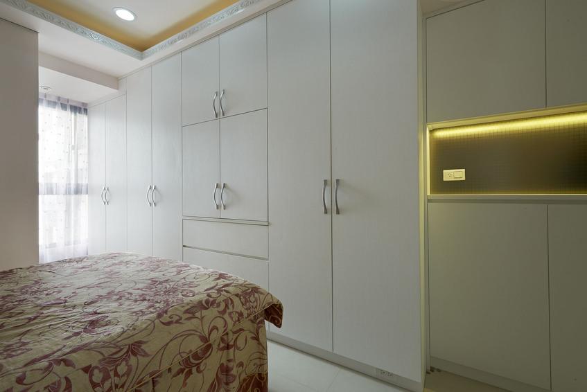 时尚现代卧室白色衣柜设计_装修百科