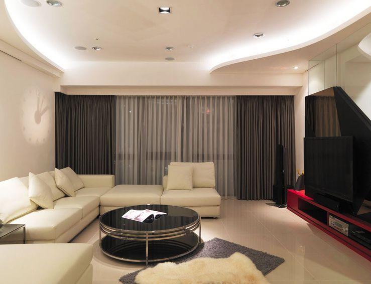 现代时尚客厅吊顶设计