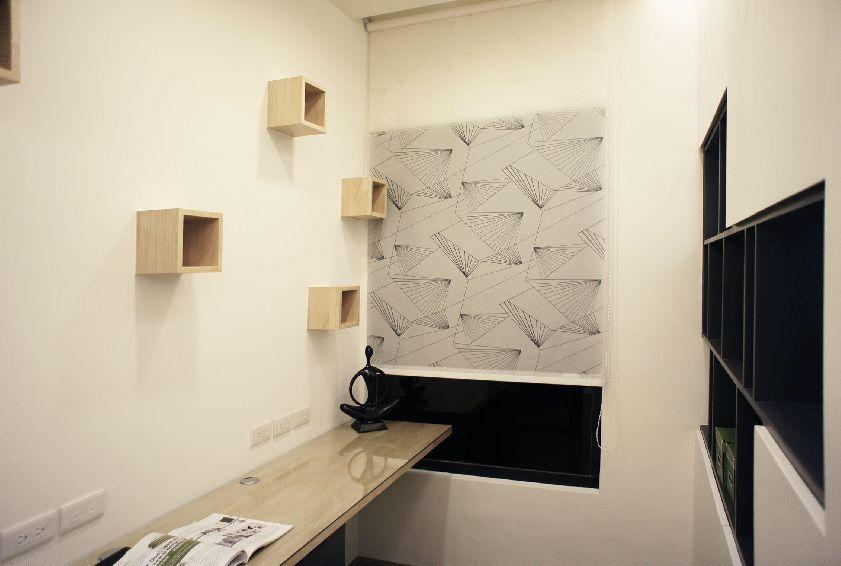 现代日式书房墙面设计