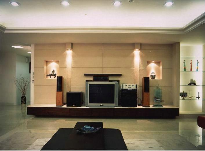 现代创意装修 客厅电视背景墙鉴赏图片