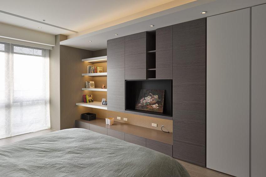 現代時尚裝修臥室柜子設計