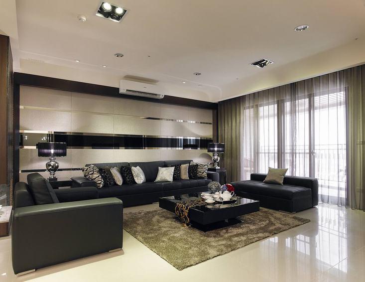 現代設計裝修客廳沙發圖