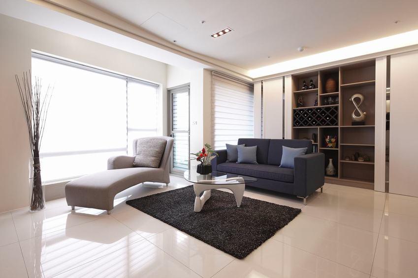 現代簡約客廳博古架設計