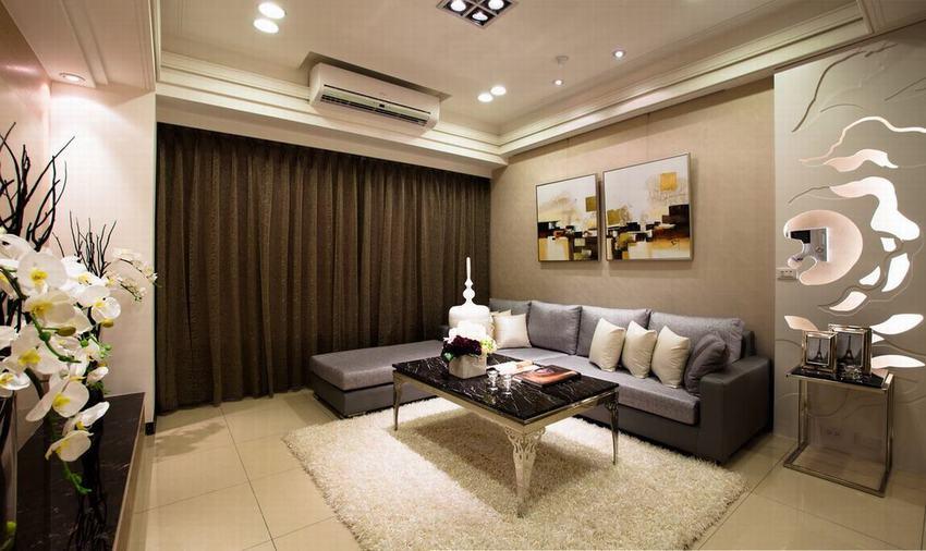 现代时尚客厅创意背景墙设计
