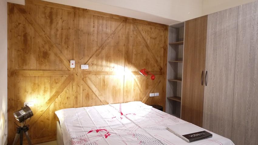 文藝范美式臥室背景墻效果圖