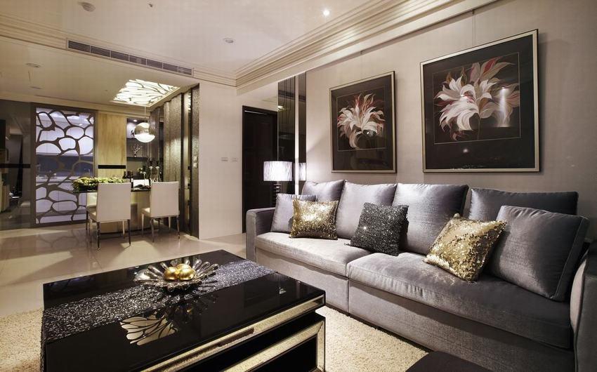 时尚现代125平三居装修效果图