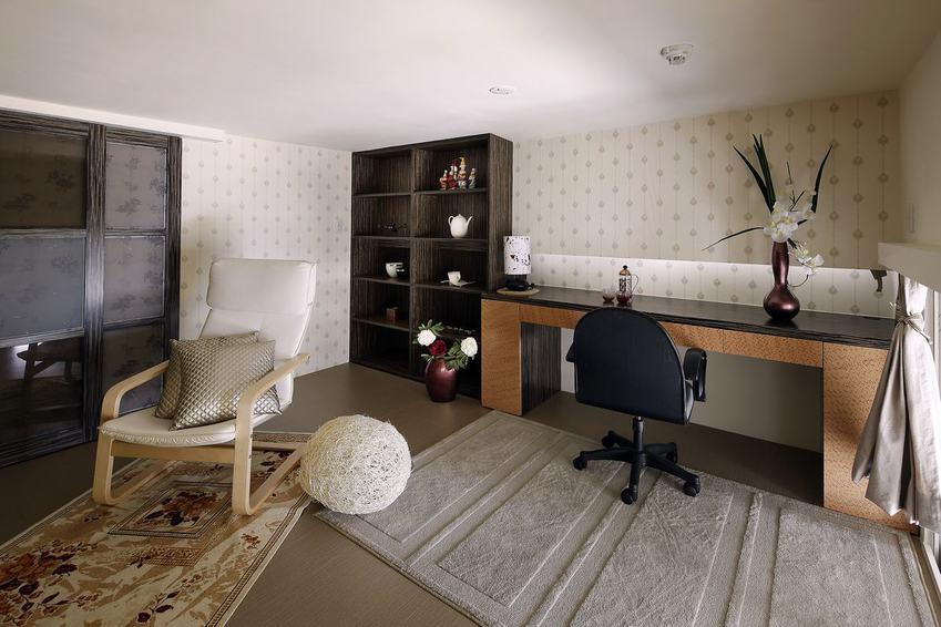 現代家居書房博古架設計