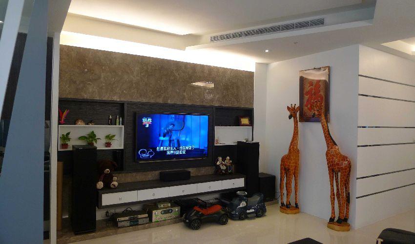 时尚现代装修客厅电视墙设计