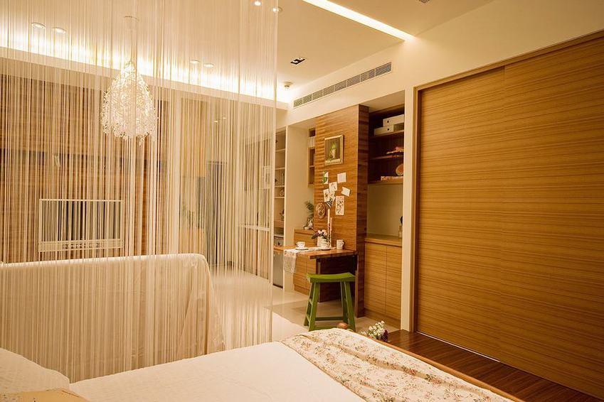 装修效果图 装修美图 现代小户型家居垂帘隔断装饰