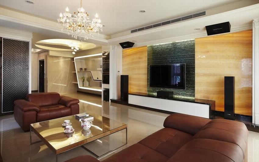 現代風格 客廳電視背景墻效果圖