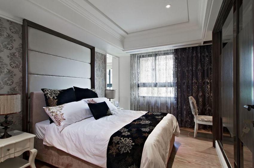 新古典風格臥室窗簾裝飾