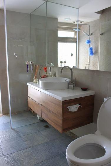 现代设计卫生间洗手台效果图
