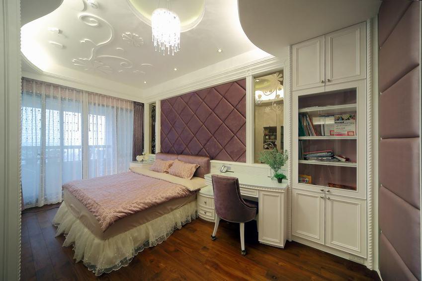 唯美新古典臥室 軟包背景墻裝飾