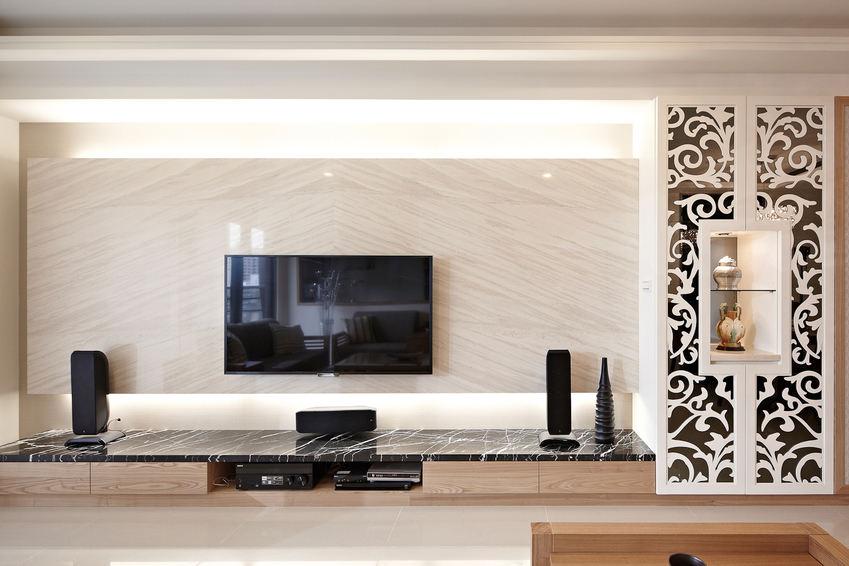 时尚现代大理石电视背景墙设计