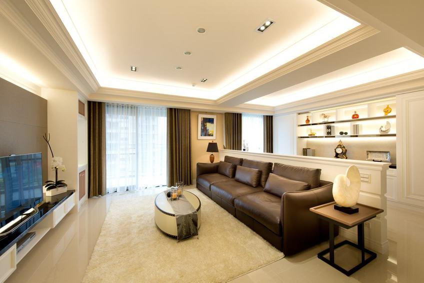 舒適休閑簡美式 三室兩廳效果圖