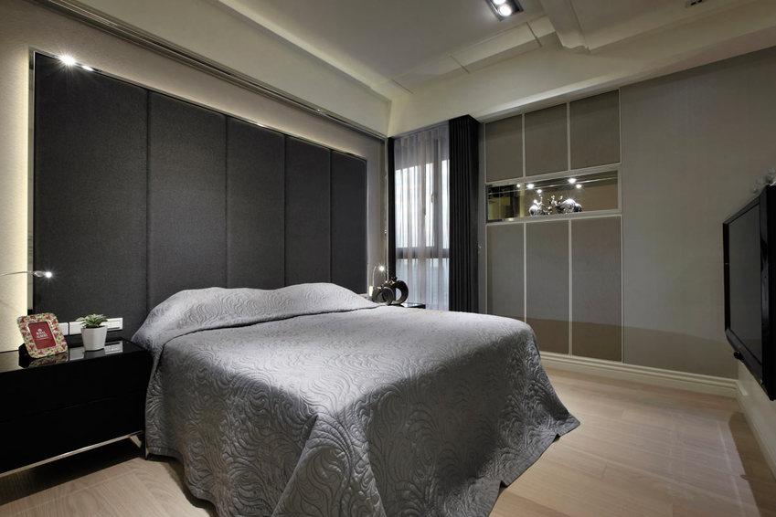 黑白灰现代家居卧室效果图_装修百科