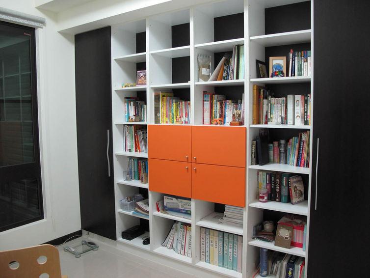 时尚现代设计家居书架效果图
