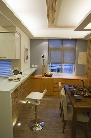 美式风格餐厅吧台设计