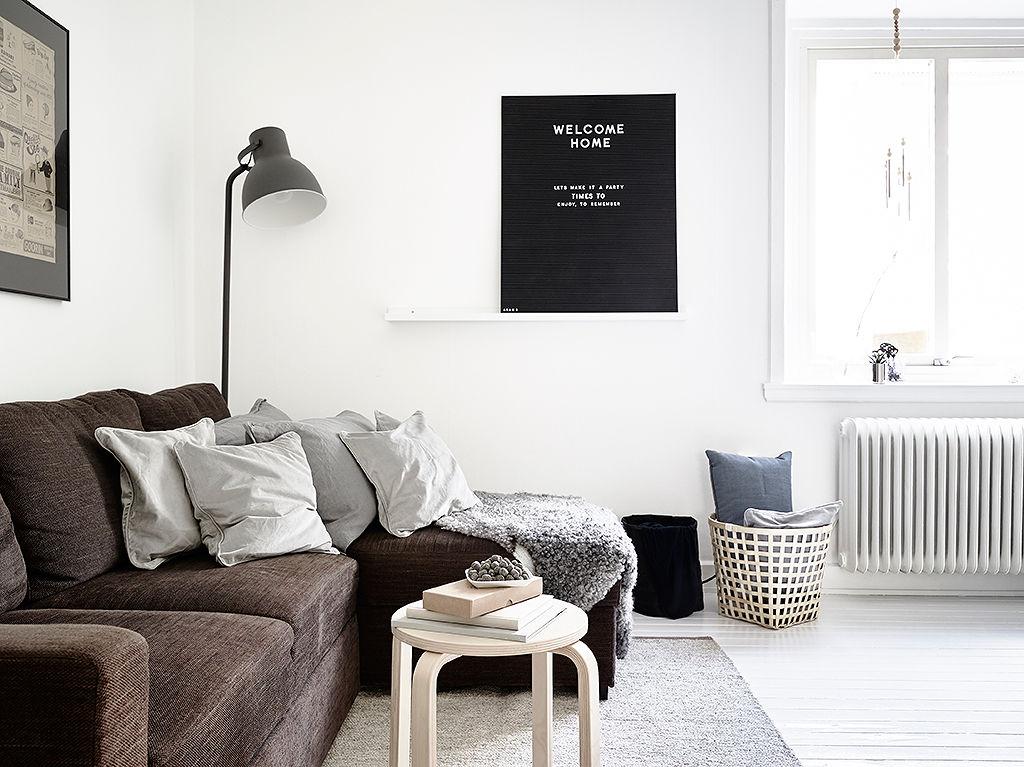 黑白简约北欧风 公寓设计图