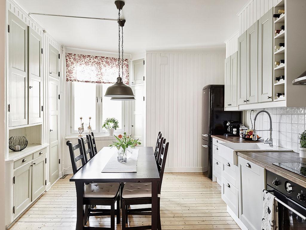 简洁北欧餐厨房一体设计装修图图片